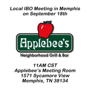 Local IBO Meeting In Memphis On September 18th At Applebee's With National Sales Director Debbie Hanson