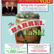 AmeriPlan Famous Barrel Of Cash Coming To New Orleans, LA November 13th