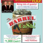 AmeriPlan Famous Barrel Of Cash Coming To Oklahoma City, OK November 18th