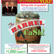 AmeriPlan Famous Barrel Of Cash Coming To Houston, TX November 11th
