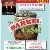 AmeriPlan Famous Barrel Of Cash Coming To Austin, TX November 20th