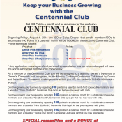 Growing Your Business With The Centennial Club Special Recognition And Bonus Plan