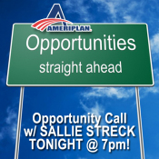 Sallie Streck's Wednesday Live Opportunity Call For All AmeriPlan