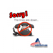 ATTENTION! AmeriPlan Company 800 Phone Lines Are DOWN!