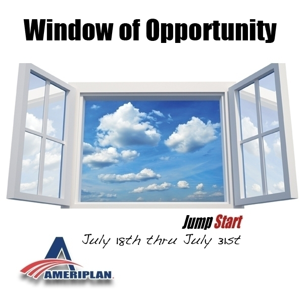 Window of opportunity july 18th through july 31st for Window of opportunity