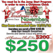 Christmas In November Promotion EXTENDED For New Jump Start Benefit Consultants