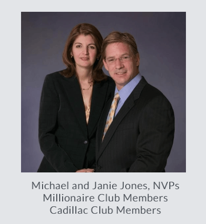 Michael and Janie Jones, NVPs Millionaire Club Members Cadillac Club Members