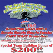 AmeriPlan April Showers Jump Start Promotion EXTENDED!