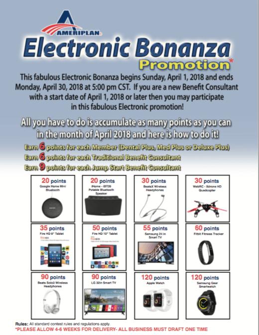 April Electronic Bonanza