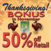 NOVEMBER  THANKSGIVING BONUS  PROMOTION!!!!