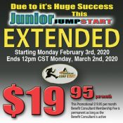 2020 JUNIOR JUMPSTART  EXTENDED PROMOTION!!!!