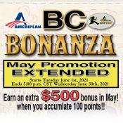 BONANZA MAY PROMOTION EXTENDED