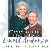 Celebrating The life of Lowell Anderson